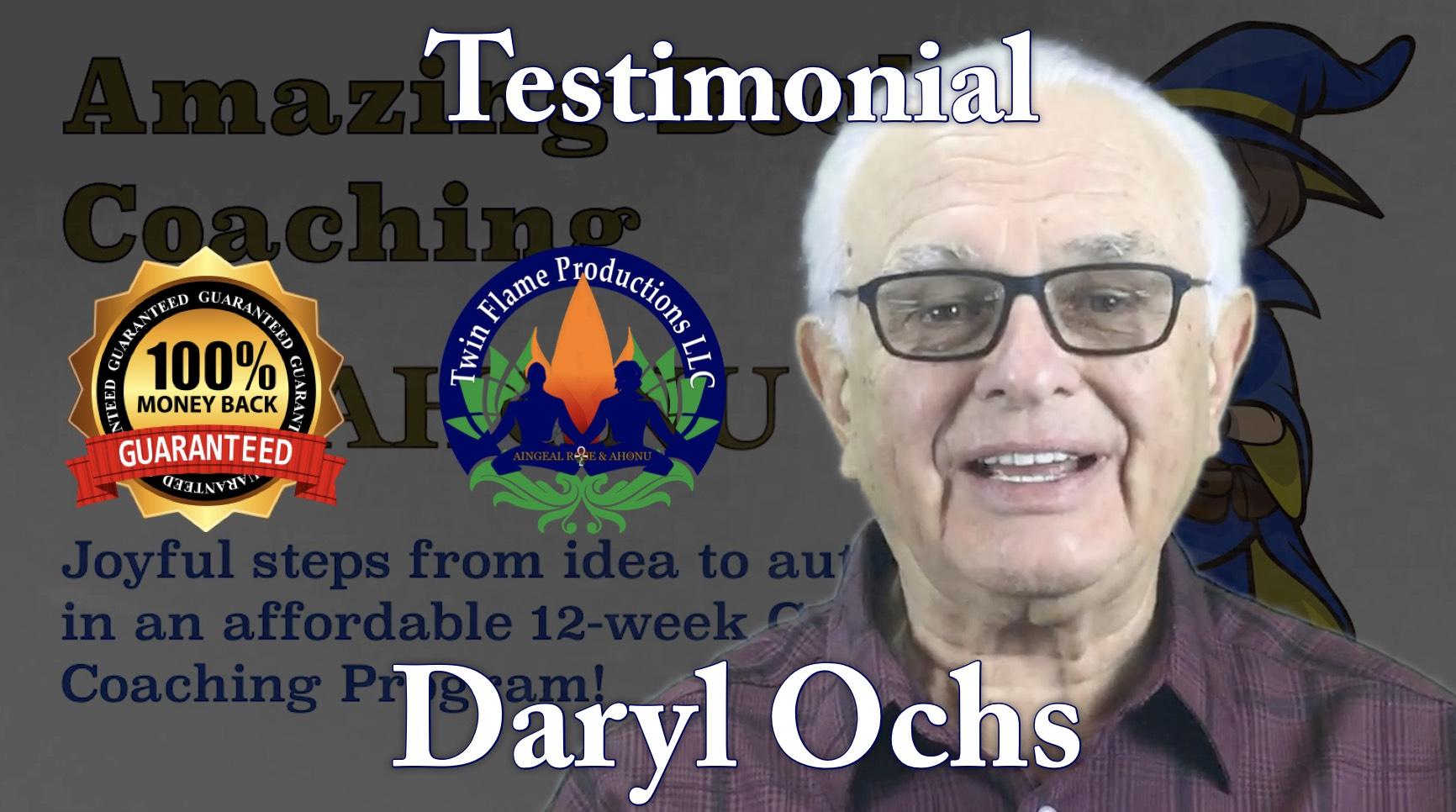 Testimonial from Daryl Ochs