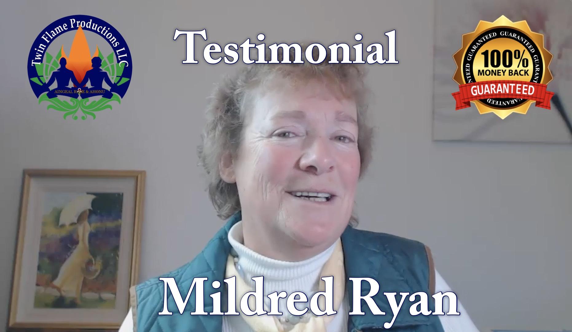 Testimonial from Mildred Ryan